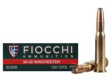 Fiocchi 30-30 Win Ammunition FI3030B 150 Gr Flat Soft Point 20 rounds
