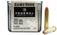 Federal 22 Mag Game-Shok F757 50gr JHP 50 rounds