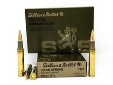 Sellier & Bellot 30-06 Springfield (M1 Garand) Ammuntion SB3006M2 150 Grain Full Metal Jacket 20 rounds