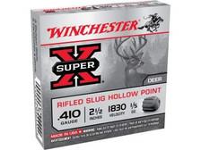 """Winchester 410 Bore Ammunition Super-X X41RS5 2-1/2"""" Slug 1/5oz 1830fps 5 Rounds"""