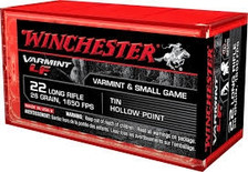 Winchester 22LR Super-X Lead-Free X22LRHLF 26 gr Lead Free HP 1650 fps 50 rounds