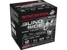 "Winchester 12 GA Blind Side High Velocity SBS12LHV1 Ammunition 3-1/2"" 1-3/8 oz #1 1675fps Non-Toxic Steel Shot 250 rounds"