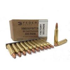 "Federal 5.56x45mm XM556FBIT3M 62 gr Tactical Bonded ""FBI Load"" Factory Seconds 20 rounds"