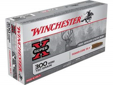 Winchester 300 WSM Ammunition Power-Core X300WSMLF 150 Grain Solid Copper Hollow Point Boat Tail 20 rounds