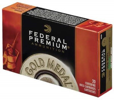 Federal 338 Lapua Mag Ammunition Gold Medal GM338LM2 300 Grain Sierra Matchking Boat Tail Hollow Point 20 rounds