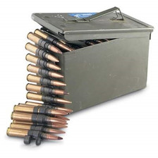 Federal 50 BMG Ammunition LAKEXMA557 M33/M17 4:1 Ball and Tracer Linked Ammo Can 100 rounds