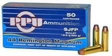 Prvi PPU 44 Rem MAG Ammunition PPR42 300 Grain Semi- Jacketed Flat Point 50 Rounds