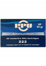 Prvi PPU 223 Rem Ammunition PP59 55 Grain Full Metal Jacket 20 Rounds