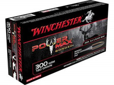 Winchester 300 WSM Ammunition Power MAX X300WSMBP 180 Grain Bonded Hollow Point 20 rounds