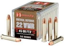 Hornady 22 Win Magnum 83200 Critical Defense 45 Grain FTX 50 rounds