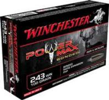 Winchester 243 WIN Power Max Bonded X2432BP 100gr PHP 20 rounds