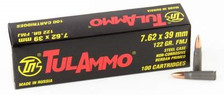Tula 7.62x39mm 122 gr FMJ 100 rounds
