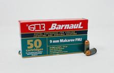 Barnaul 9x18mm Makarov Ammunition 94 Grain Full Metal Jacket 50 rounds
