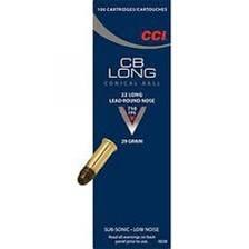 CCI 22 Long CB CCI0038 29 gr LRN *Blemished Box* 100 rounds per box