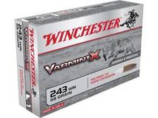 Winchester 243 Win Varmint X X243P 58 gr Polymer Tip 20 rounds