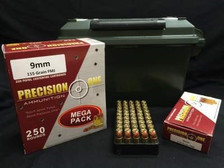 Precision One 9mm Ammunition REMAN 115 Grain Full Metal Jacket 250 rounds