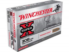 Winchester 308 Win Super-X X3085 150 gr Power Point 20 rounds