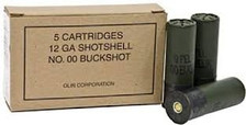 "Winchester 12 GA Military Grade Q1544 2-3/4"" 00 Buck 9 Pellets 1325fps 5 rounds"
