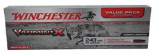 Winchester 243 Win Varmint X X243PXL 58 gr Polymer Tip 40 rounds