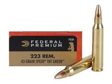 Federal 223 Rem Ammunition V-Shok P223R 43 Grain TNT Green Lead Free Hollow Point 20 rounds
