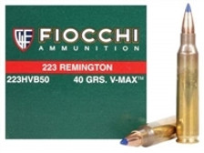 Fiocchi 223 Remington Extrema Ammunition FI223HVB50 40 Grain V-MAX CASE 1000 rounds