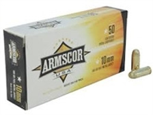 Armscor 10mm Ammunition 180 Grain Full Metal Jacket 50 rounds