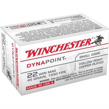Winchester 22 Mag Dynapoint USA22M 45 gr Plated HP 50 rounds