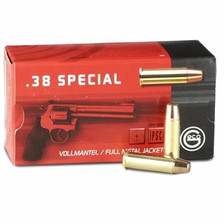 Geco 38 Special Ammunition 271640050 158 Grain Full Metal Jacket Flat Nose 50 Rounds