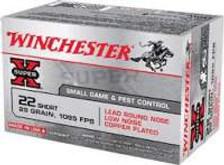 Winchester 22 Short Ammunition Super-X X22S 29 Grain Lead Round Nose 50 Rounds