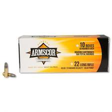 Armscor 22 LR Ammunition ARM22LRSP 40 Grain Lead Solid Point Case of 5,000 Rounds