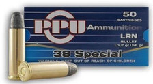 Prvi PPU 38 Special Ammunition PPR33 158 Grain Lead Round Nose Case of 500 Rounds