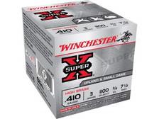 """Winchester 410 Bore Super-X X413H7 3"""" 3/4 oz #7-1/2 Shot 1100FPS CASE 250 rounds"""