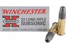 Winchester 22LR Super-X Subsonic X22LRSUBA 40 gr 50 rounds