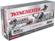 Winchester 300 AAC Blackout Ammunition Deer Season XP X300BLKDS 150 Grain Extreme Point 20 rounds