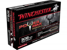 Winchester 308 Win Ammunition Power Max Bonded X3085BP 150 Grain Bonded Rapid Expansion Hollow Point 20 rounds