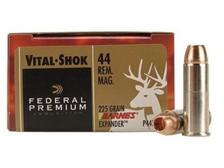 Federal 44 Magnum Ammunition Vital-Shok P44XB1 225 Grain Barnes XPB Hollow Point Lead-Free 20 rounds