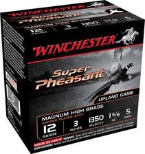 "Winchester 12 Gauge Ammunition Super Pheasant Plated HV X123PH5 3"" 1-5/8oz 5 shot 1350fps 25 rounds"
