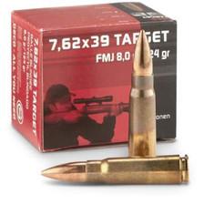 Geco 7.62x39mm Ammunition 265840020 124 Grain Full Metal Jacket Case of 1000 Rounds