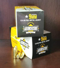 Armscor 9mm Ammunition ARM50445 124 Grain Full Metal Jacket Case of 1200 Rounds