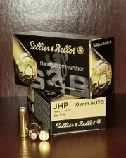 Sellier & Bellot 10mm Auto Ammunition SB10B 180 Grain Jacketed Hollow Point 50 Rounds