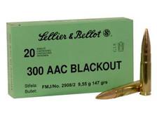 Sellier & Bellot 300 AAC Blackout Ammunition SB300BLKB 147 Grain Full Metal Jacket Case of 1000 Rounds