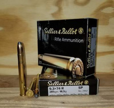 Sellier & Bellot 9.3x74R Ammunition SB9374RA 285 Grain Soft Point 20 Rounds