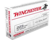 Winchester 223 Rem Ammunition USE223R1L 55 Grain Full Metal Jacket 20 Rounds