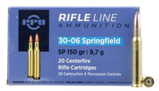 Prvi PPU 30-06 Springfield Ammunition PP30061 150 Grain Soft Point 20 Rounds