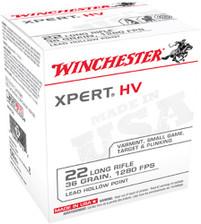 Winchester 22 LR Ammunition XPERT HV 36 Grain Lead Hollow Point Bulk Pack of 500 Rounds
