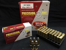 Precision One 357 Magnum Ammunition 125 Grain Jacketed Hollow Point 50 rounds