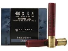 "Federal 410 Bore Ammunition Game-Shok H41375 3"" #7.5 Shot 11/16oz 1135fps Case of 250 Rounds"
