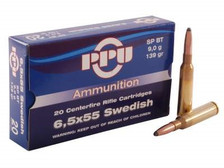 Prvi PPU 6.5x55mm Swedish Ammunition PP6SWS 139 Grain Soft Point Boat Tail 20 Rounds