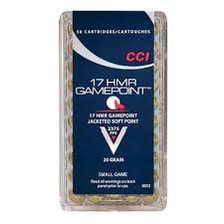 CCI 17 HMR Ammunition Gamepoint 0052 20 Grain Jacketed Soft Point Case of 2000 Rounds