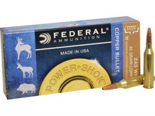 Federal 243 Win Ammunition Power-Shok Lead Free 24385LFA 85 Grain Copper Hollow Point 20 Rounds